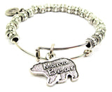 Mama Bear Metal Beaded Bracelet