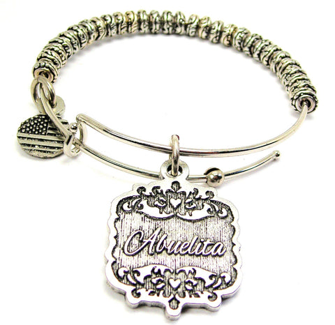 Abuelita Victorian Scroll Metal Beaded Bracelet