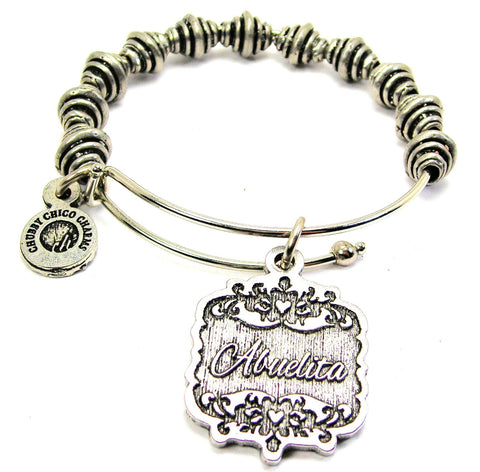Abuelita Victorian Scroll Spiral Beaded Bracelet