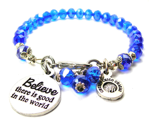 Believe There Is Good In The World Splash Of Color Crystal Bracelet