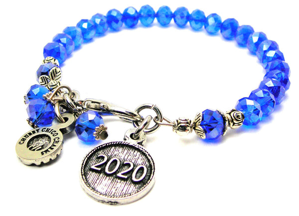 Year 2020 Splash Of Color Crystal Bracelet