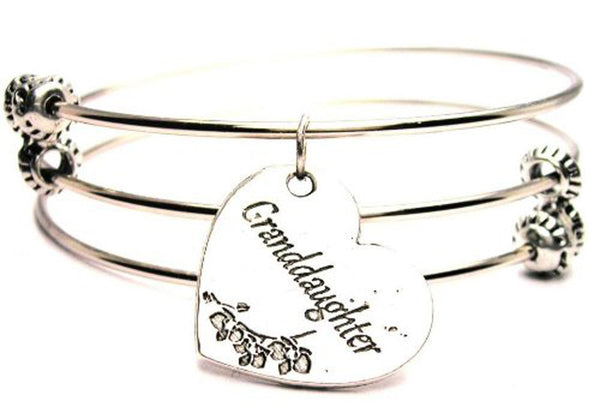 Family Bangles, Family Bracelets, Family Jewelry, I Style_Love my granddaughter bangles, I Style_Love my granddaughter jewelry, gift for granddaughter