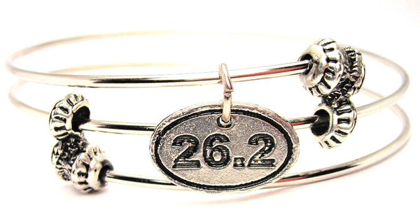 26.2 Marathon Triple Style Expandable Bangle Bracelet