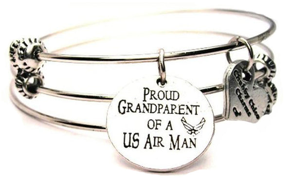 Military Bangle, Military Jewelry, Military Bracelet, Military Family Jewelry, Military Family Bracelet, Gift for Military Grandma