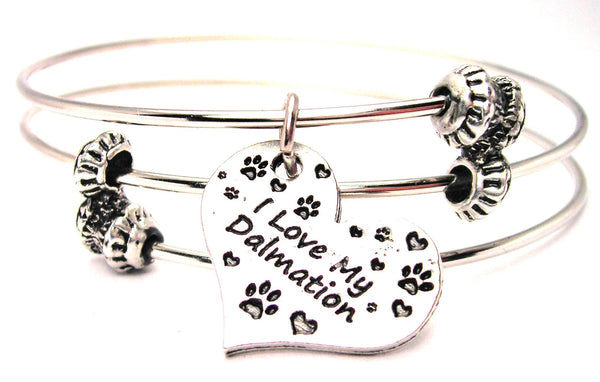 Dalmatian bracelet, Dalmatian jewelry, dog Style_Lover bracelet, dog Style_Lover jewelry, animal adoption jewelry