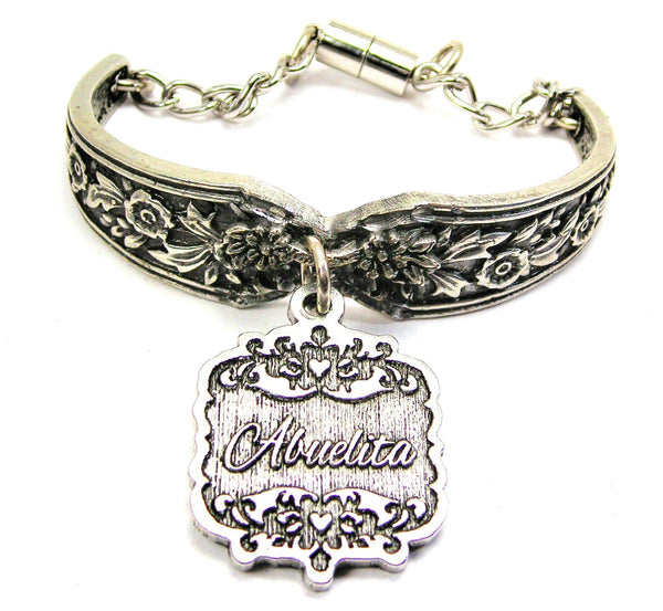 Abuelita Victorian Scroll Vintage Spoon Chain Bracelet