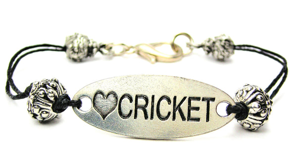 bowlers, bowling, volley, willow bat, cord bracelet, charm bracelet,