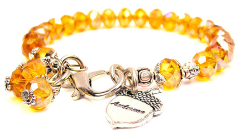 Acorn Shaped Autumn Splash Of Color Crystal Bracelet