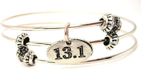 13.1 Marathon Triple Style Expandable Bangle Bracelet