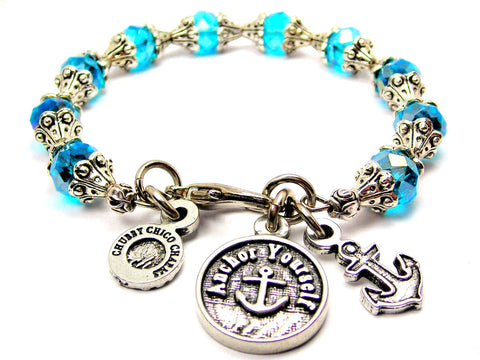 Anchor Yourself Catalog Capped Crystal - Aqua Blue