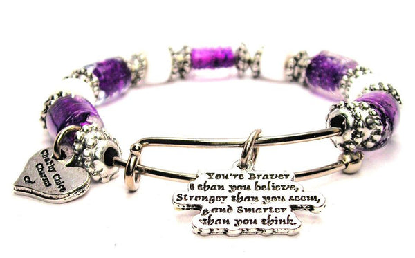 positive expression jewelry, positive expression bracelet, bravery jewelry, uplifting expressions jewelry