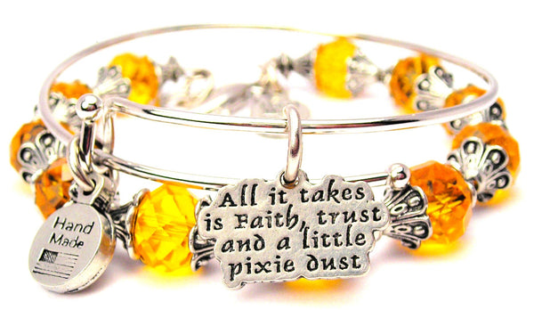 All It Takes Is Faith Trust And A Little Pixie Dust 2 Piece Collection