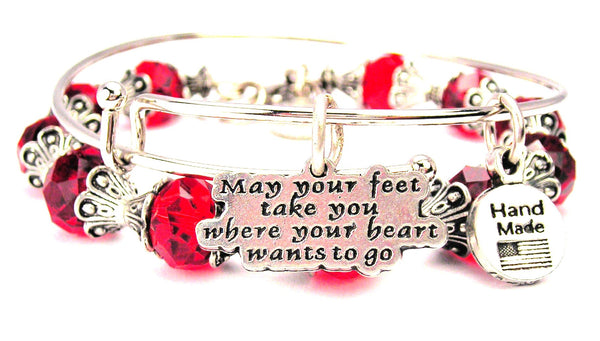 May Your Feet Take You Where Your Heart Wants To Go 2 Piece Collection
