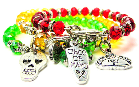 cinco de mayo , may 5, fiesta, day of the dead, dia de los muertos, mexico, party, bongos,sombrero, cinco de mayo jewelry, mexican bracelet, mexican bangle