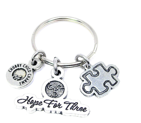 Hope for three puzzle piece Key Chain
