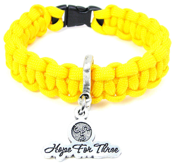 Hope for three Paracord bracelet