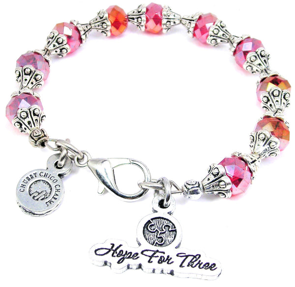 Hope for three capped Collection bangle