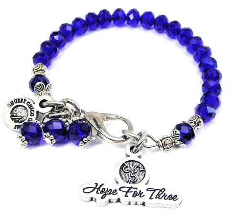 Hope for three Splash Of Color Crystal Bracelet