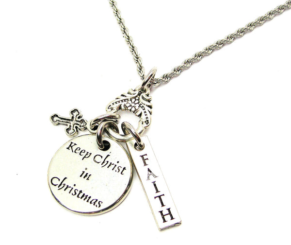 Keep Christ In Christmas Catalog Necklace