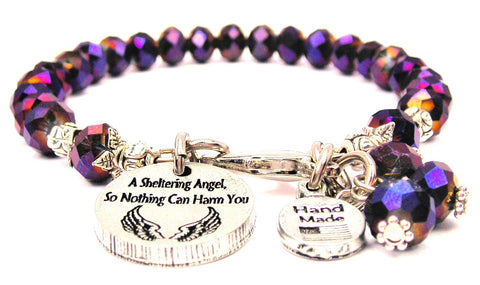 A Sheltering Angel, So Nothing Can Harm You Splash Of Color Crystal Bracelet