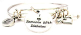 diabetes bracelet, diabetes awareness bracelet, medical disorder bracelet, medical bracelet, awareness ribbon
