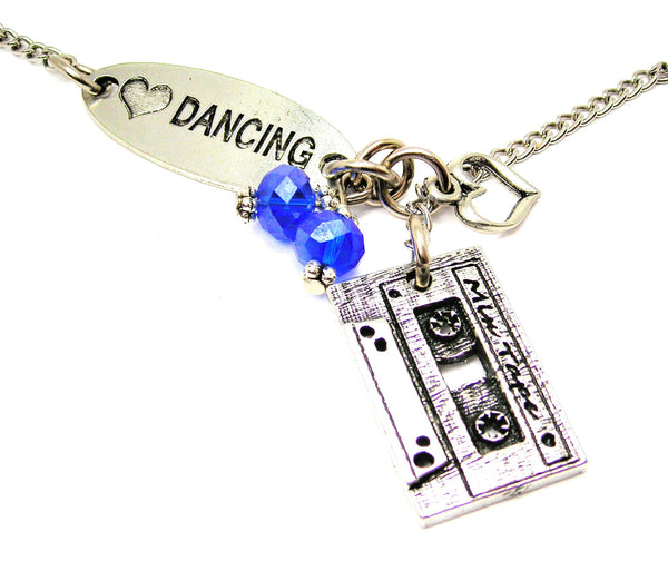 Love Dancing And Mix Tape Lariat Necklace