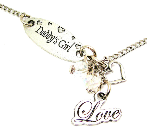 Daddy's Girl And Cursive Style_Love Lariat Necklace
