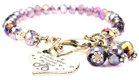 A Police Officer Arrested My Heart Splash Of Color Crystal Bracelet