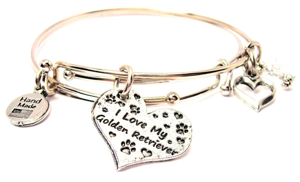 golden retriever bracelet, golden retriever bangles, golden retriever jewelry, dog bracelet, animal lover bracelet