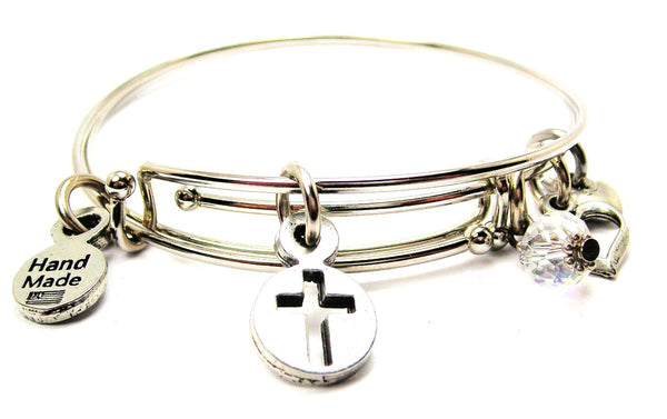 Religious Bangle, Religious Bracelet, Religious Jewelry, Cross Bangle, Cross Bracelet, Cross Jewelry