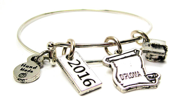 Graduation Cap 2016 Diploma Bangle Bracelet
