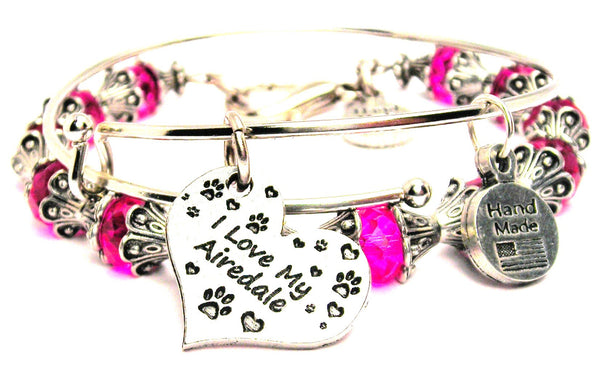 I Love My Airedale Heart 2 Piece Collection