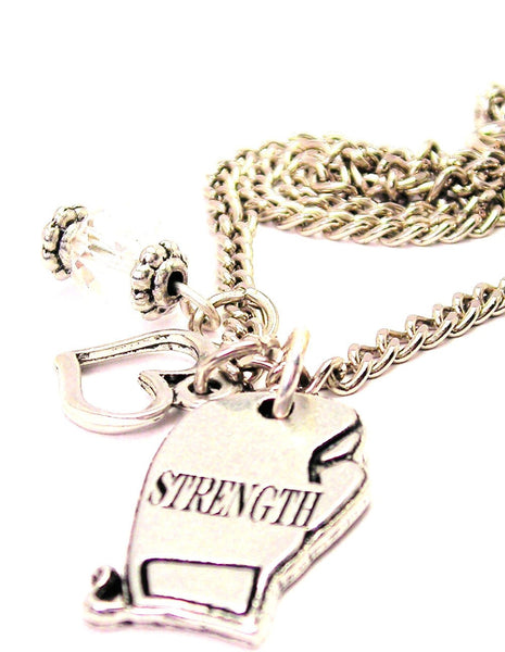 Strength Boxing GStyle_Love Necklace with Small Heart