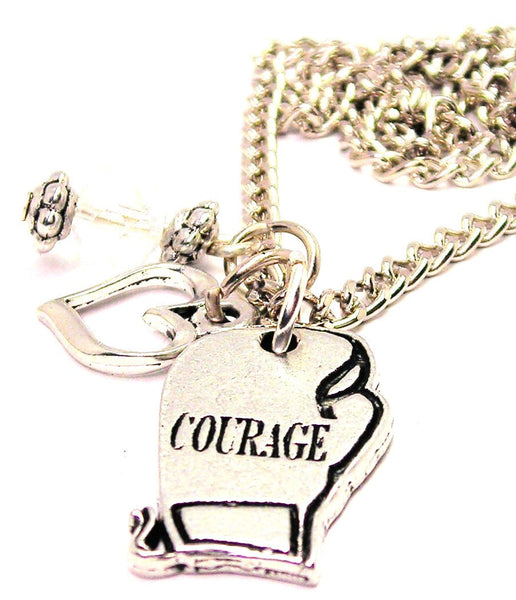 Courage Boxing GStyle_Love Necklace with Small Heart