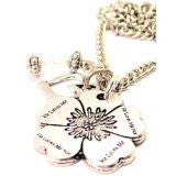 He Style_Loves Me He Style_Loves Me Not Flower Necklace with Small Heart