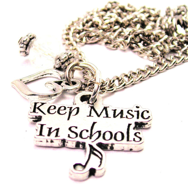 Keep Style_Music In Style_School Necklace with Small Heart