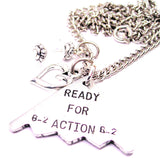 B-2 Ready For Action Necklace with Small Heart