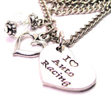 I Style_Love Auto Racing Heart Necklace with Small Heart