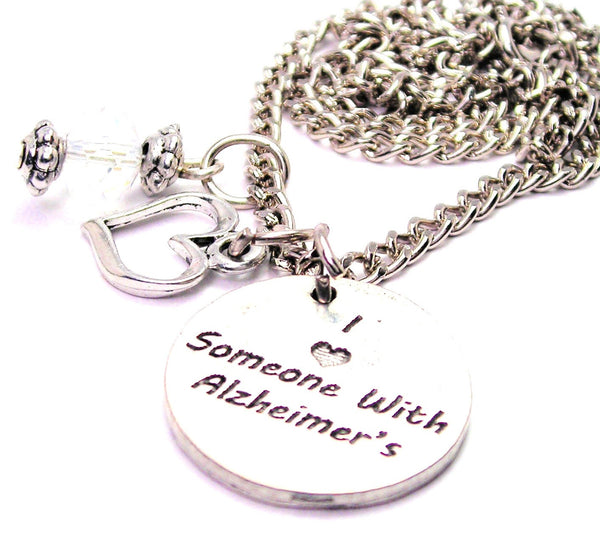 I Love Someone With Alzheimer's Necklace with Small Heart