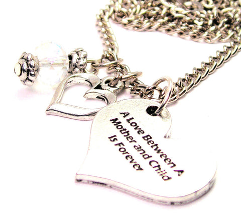 A Style_Love Between A Mother And Child Is Forever Necklace with Small Heart