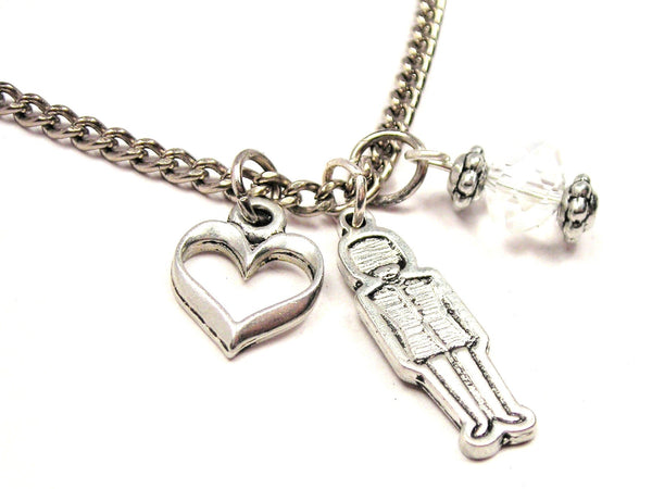 British Royal Guard Necklace with Small Heart