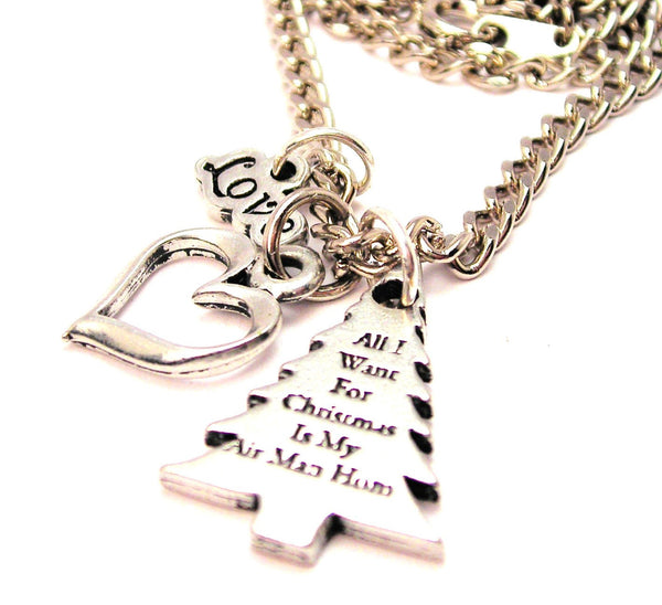 All I Want For Christmas Is My Air Man Home Little Love Necklace
