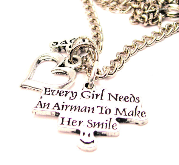 Every Girl Needs An Air Man To Make Her Smile Little Love Necklace