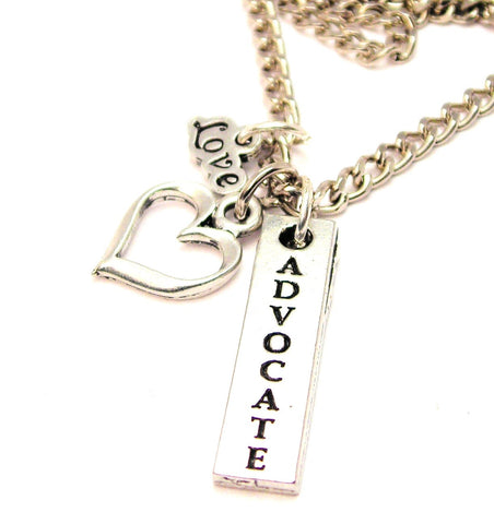 Advocate Long Tab Little Love Necklace