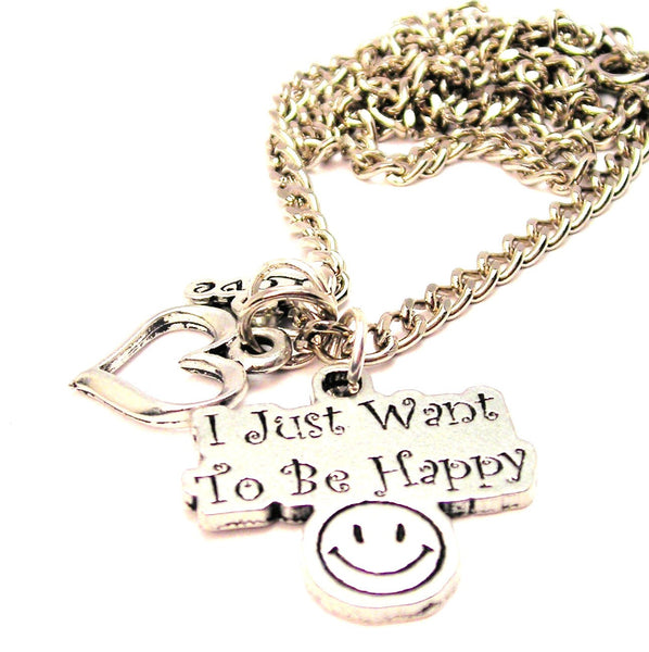 I Just Want To Be Happy Little Love Necklace