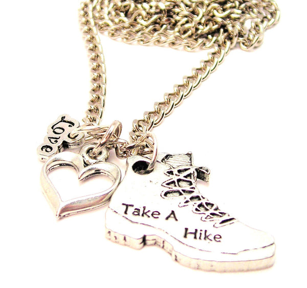 Take A Hike Boot Little Love Necklace