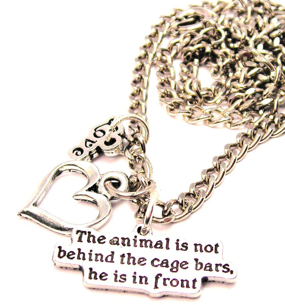 The Animal Is Not Behind The Cage Bars He Is In Front Little Love Necklace