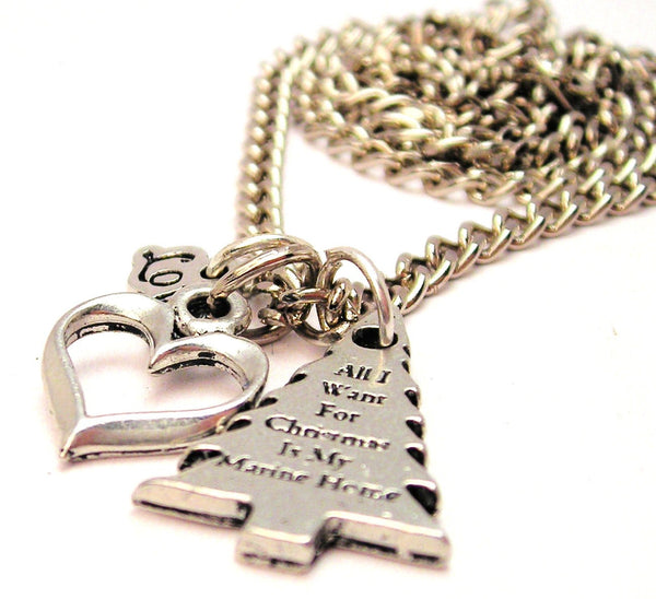 All I Want For Christmas Is My Marine Home Little Love Necklace