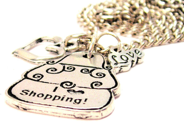 I Love Shopping Purse Little Love Necklace