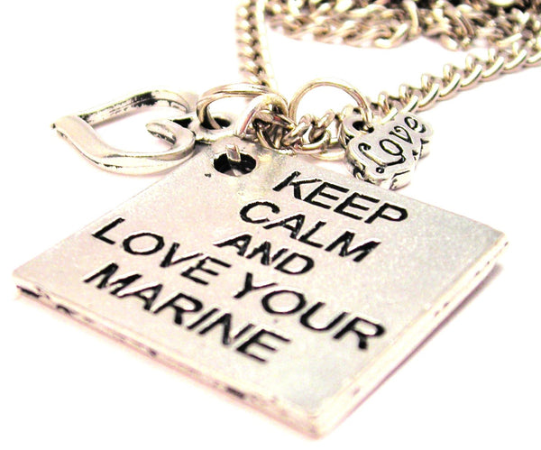 Keep Calm And Love Your Marine Little Love Necklace